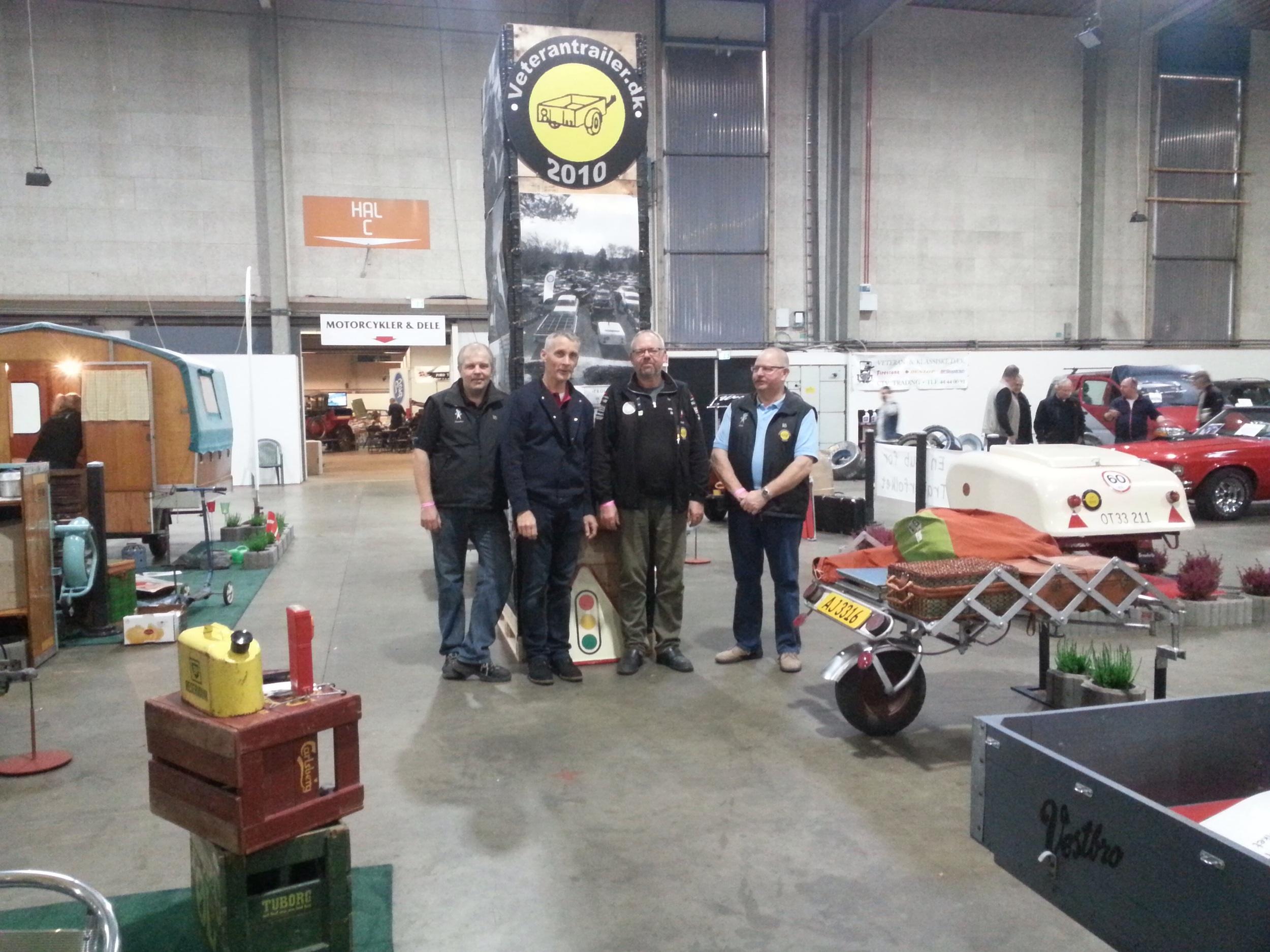 Her er the Dream-team der stod for standen. Fra venstre er det Carsten, Kurt, Poul og Orla.