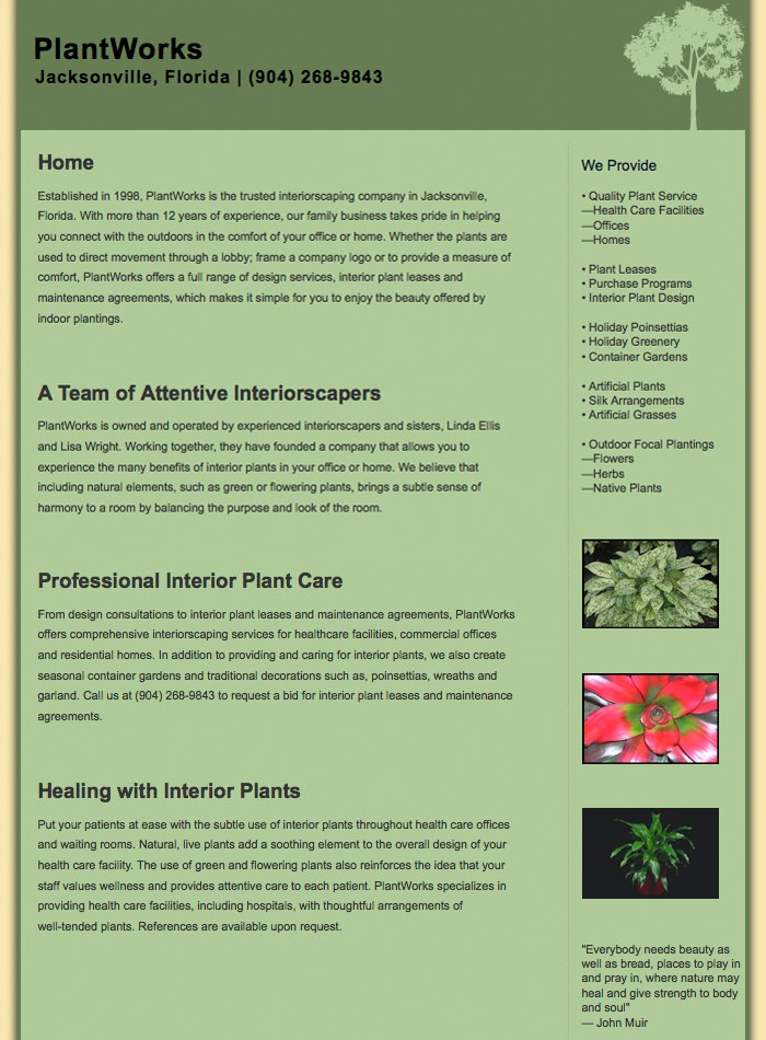 Sample from PlantWorks