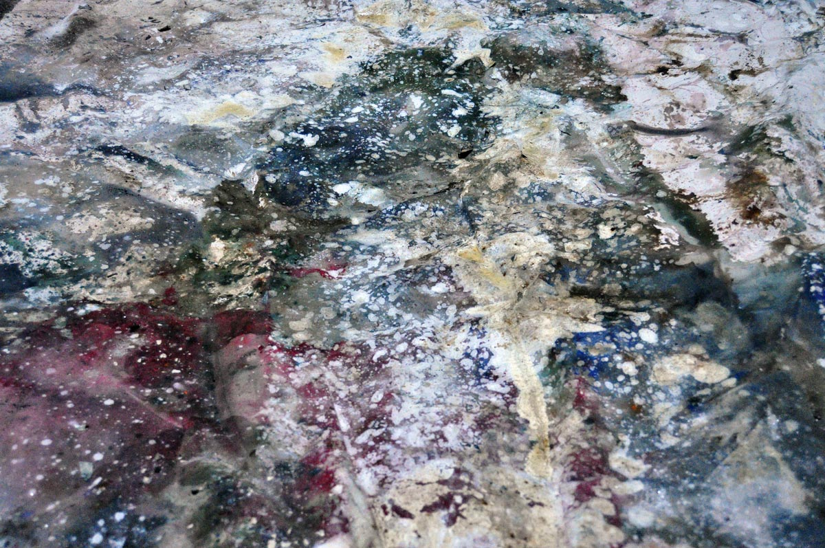 galactica, abstract map painting