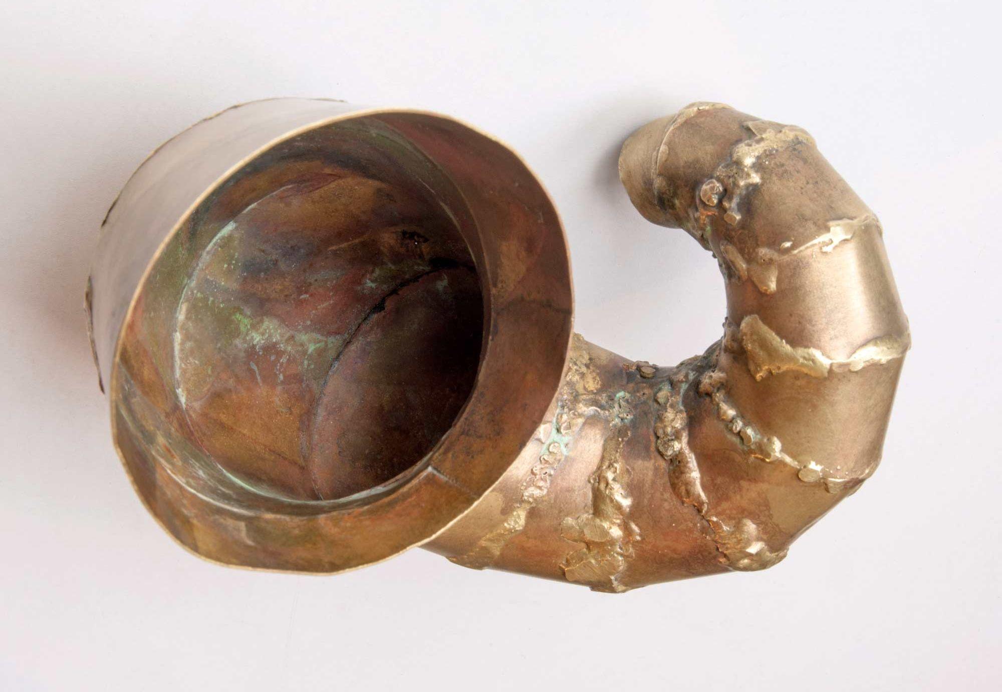 Omega shell in brazed brass. 2016