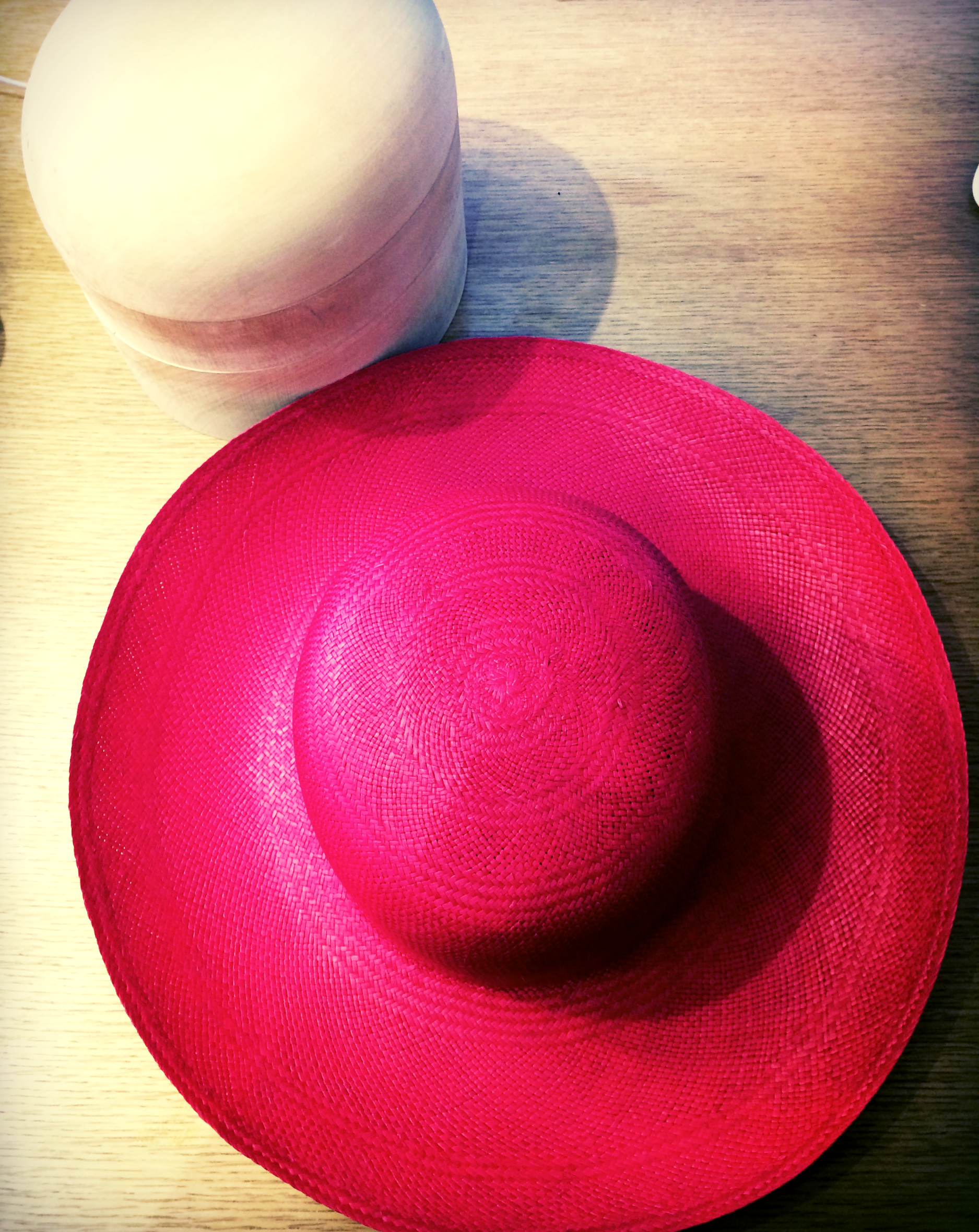 A City Milliner Panama hat before blocking