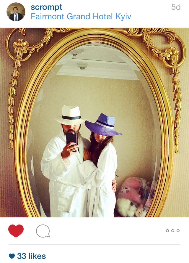Mr & Mrs Crompton in their bespoke City Milliner Panama hats