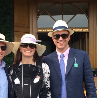 The Wimbledon Couple on the right with their City Milliner panama hats