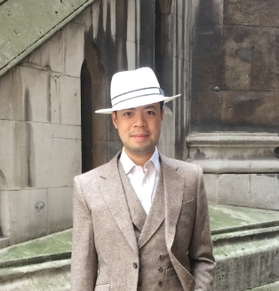 Mr Man in his first bespoke hat from The City Milliner