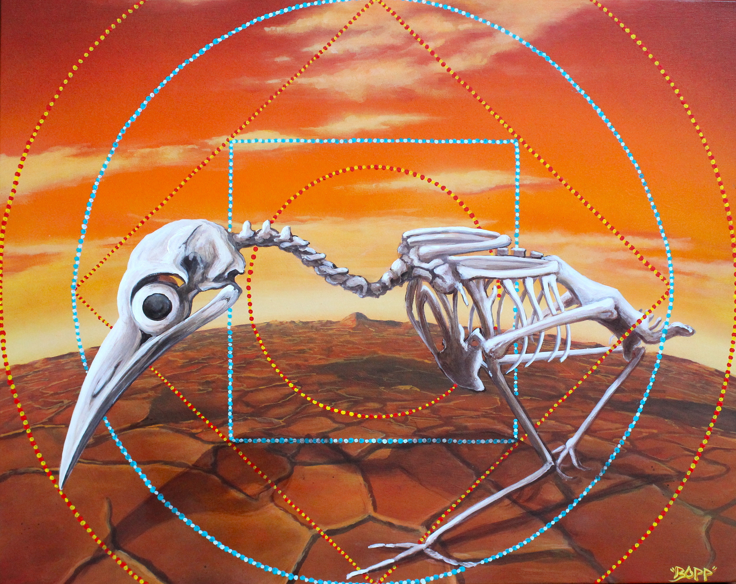 'Life on Mars' Acrylic and Aerosol on canvas 30''x24''