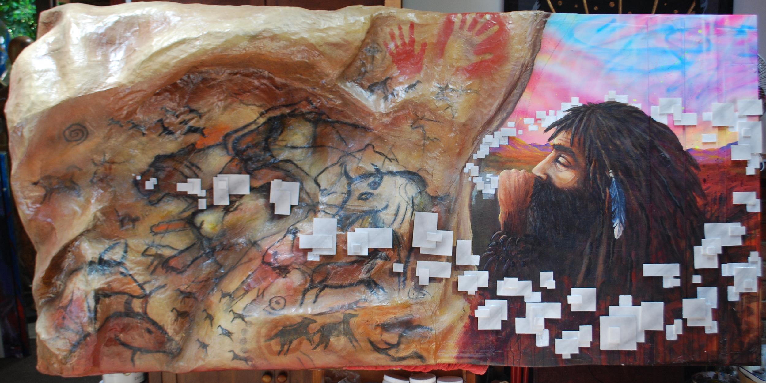 'Painting 40,00 BCE' Mixed Media 4'x8'x2'