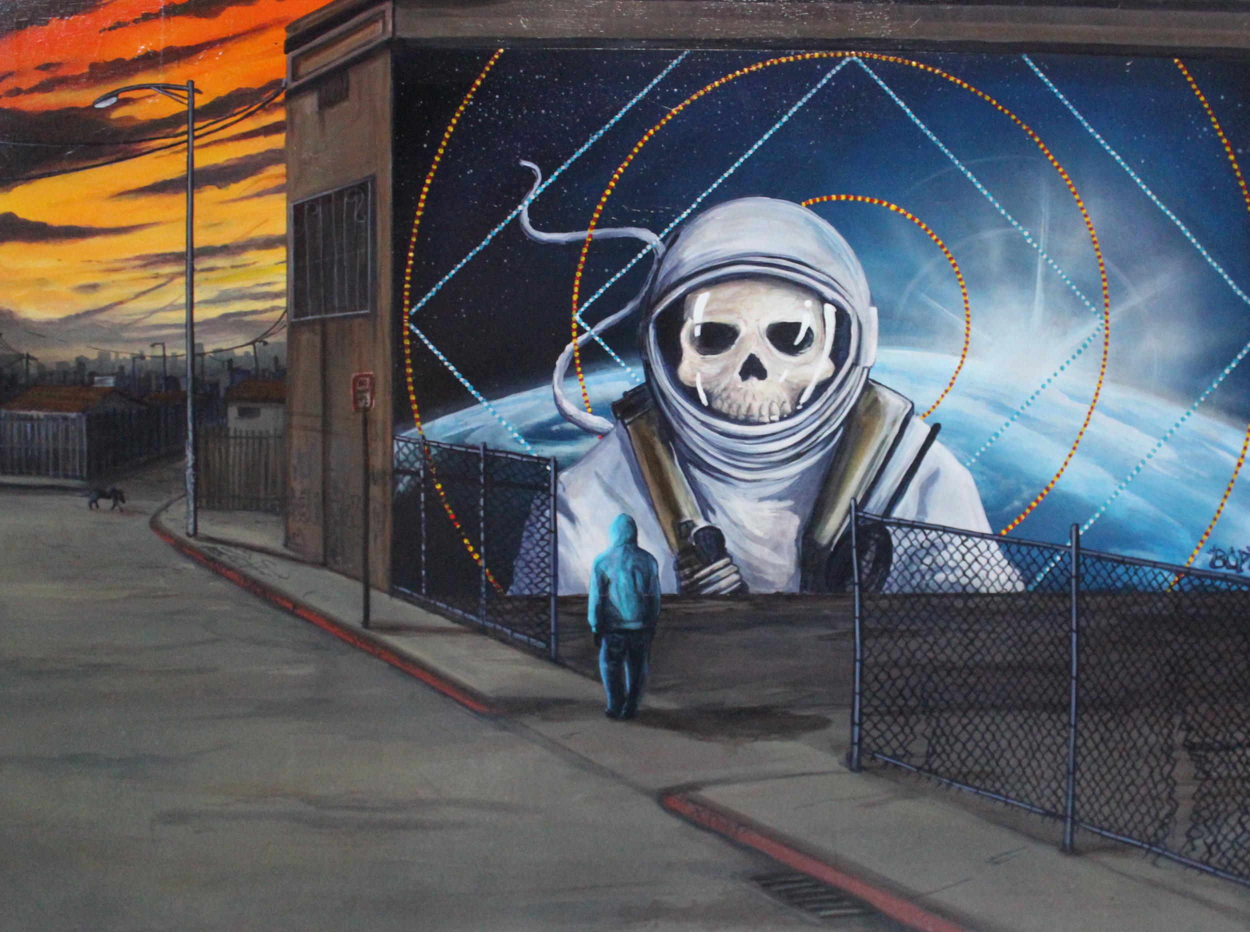 'Gravity' Acrylicand Aerosol on canvas 30''x40''
