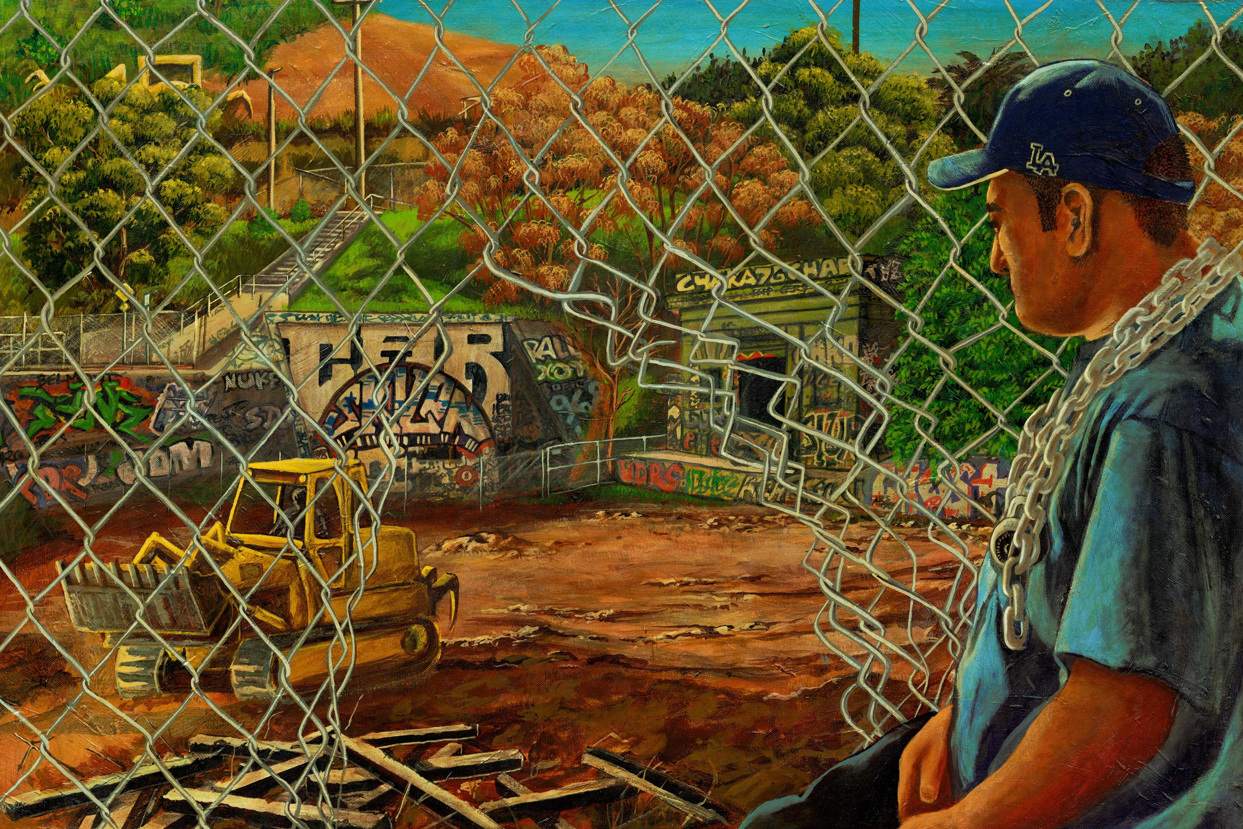 'Belmont tunnel' Acrylic on canvas 30''x40''