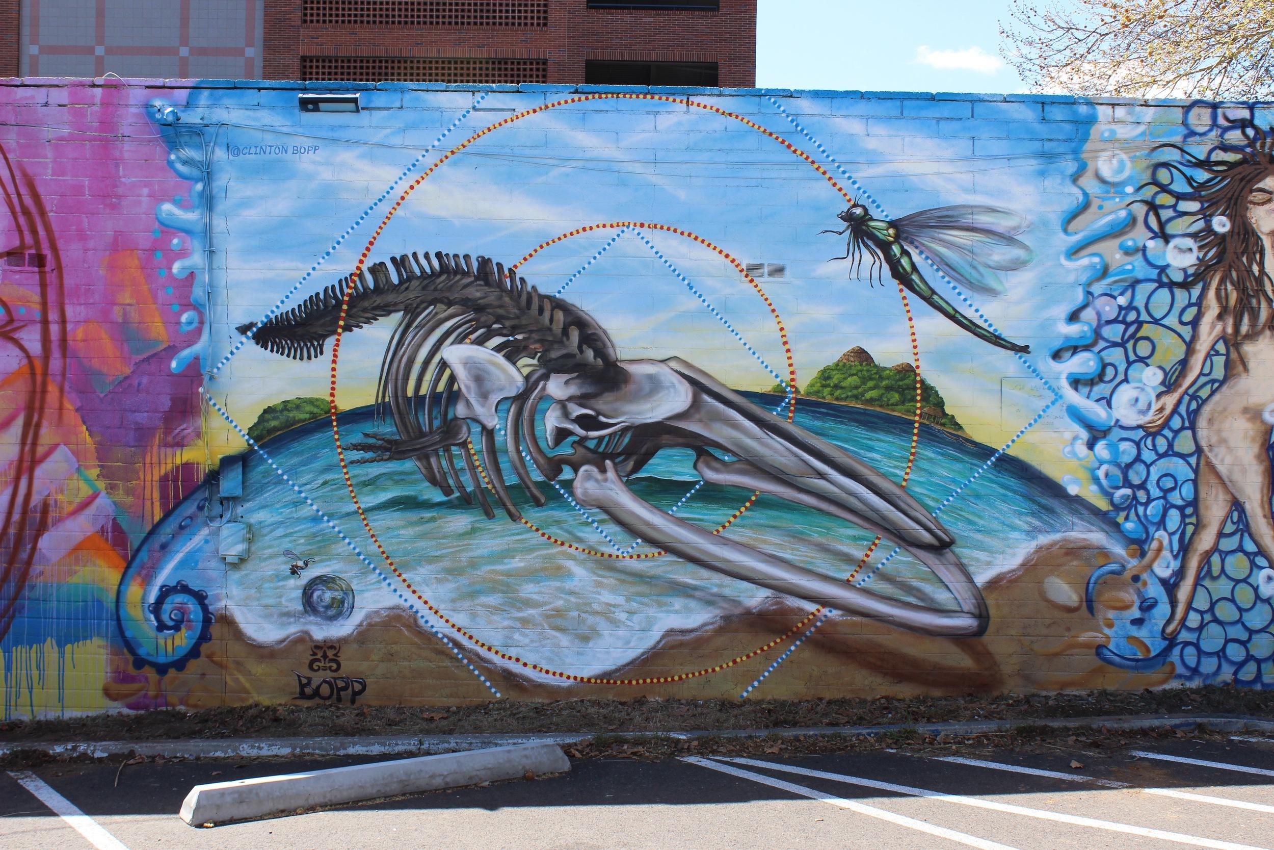 'Whale Rider' Acrylic and aerosol 15'x20' Reno, Nevada
