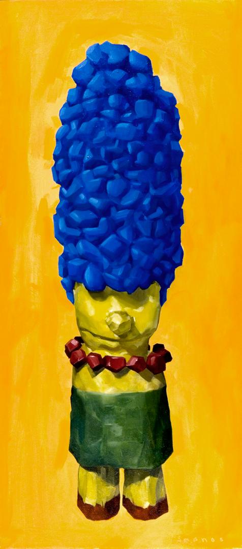 Marge as Venus of Willendorf.