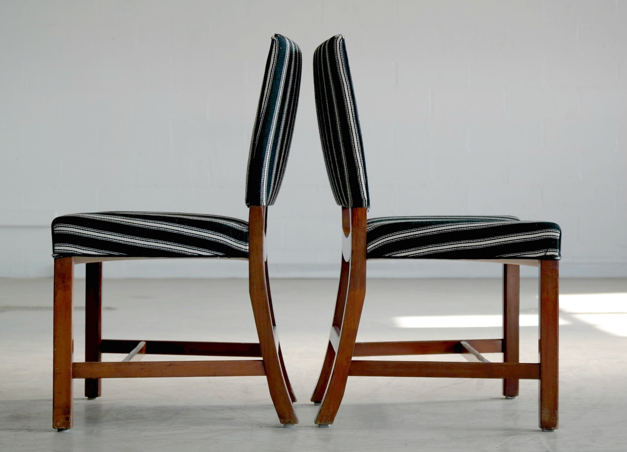 Rare Set of Eight Barcelona Dining Chairs by Kaare Klint