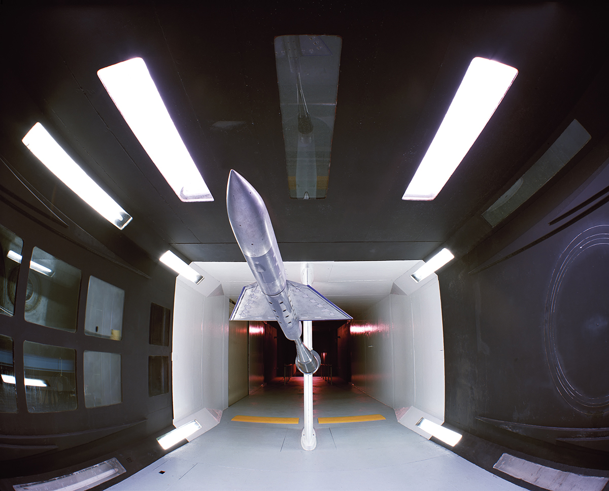 Wind Tunnel Test Chamber with Model,  7 X 10 Foot Wind Tunnel
