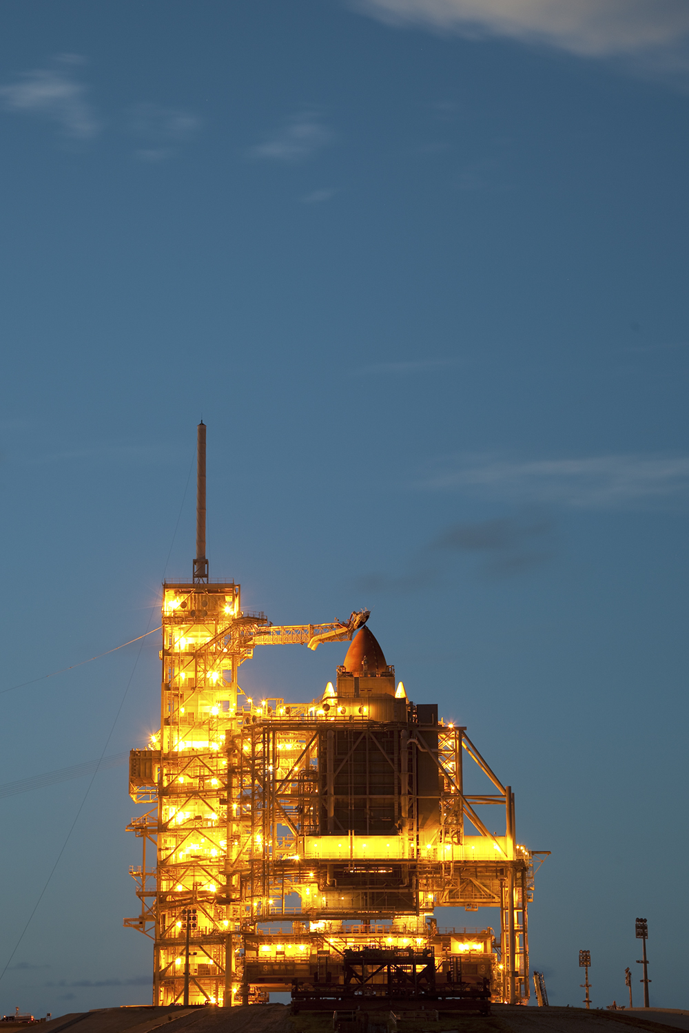 STS-133, Space Shuttle Discovery, Pad 39A
