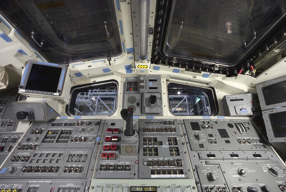 Space Shuttle Atlantis Rear Flight Deck