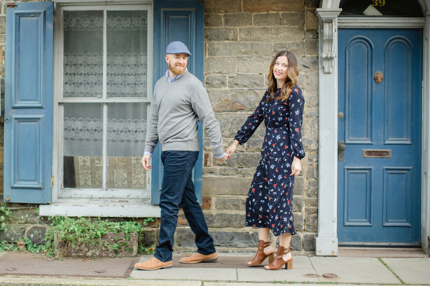 Downtown Jim Thorpe Engagement Session