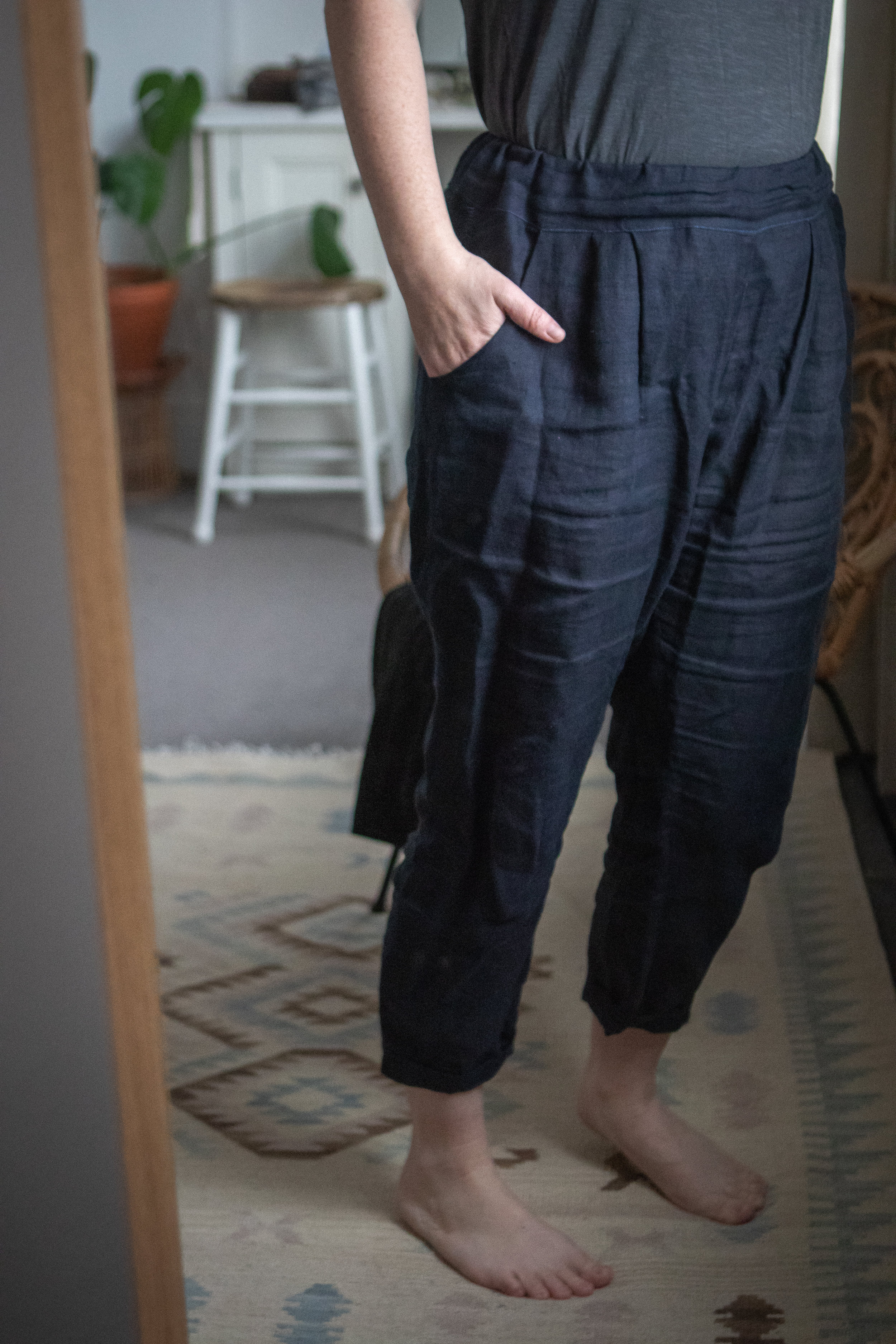 Trousers made by my sister, pattern by  Burda