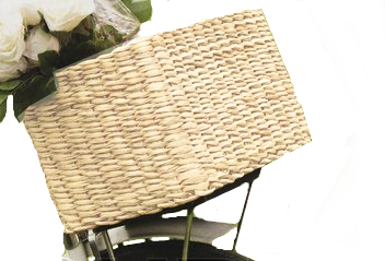 Wicker baskets complement a Charicycle well.  The basket available may differ slightly from the image above.