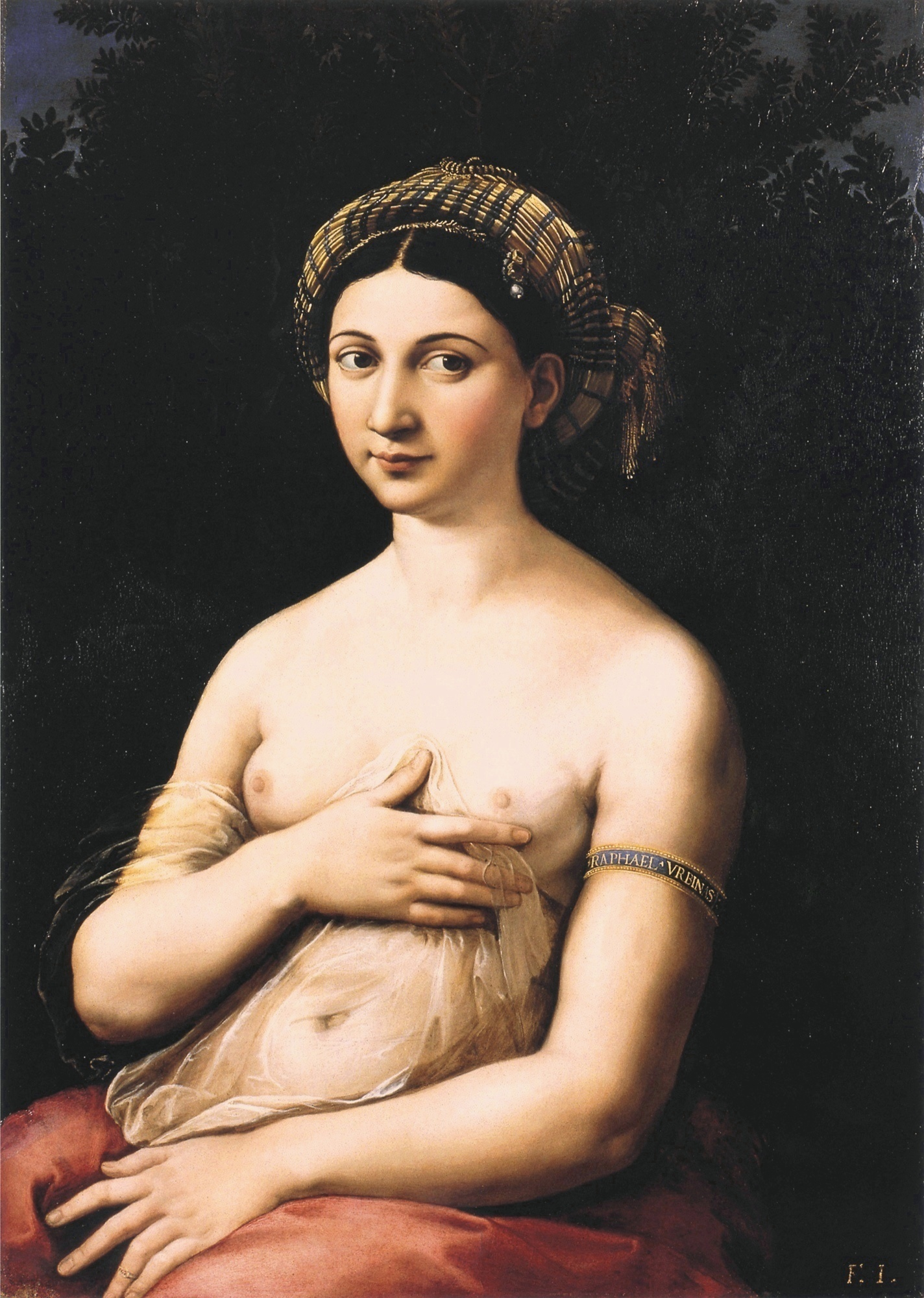 Chiaroscuro - Chiaroscuro (Italian for light-dark) in art, is the use of strong contrasts between light and dark, usually bold contrasts affecting a whole composition. The High Rennaisanse Italian painter, Rapheal made great use of this technique.La Fornarina, Raphael's mistress