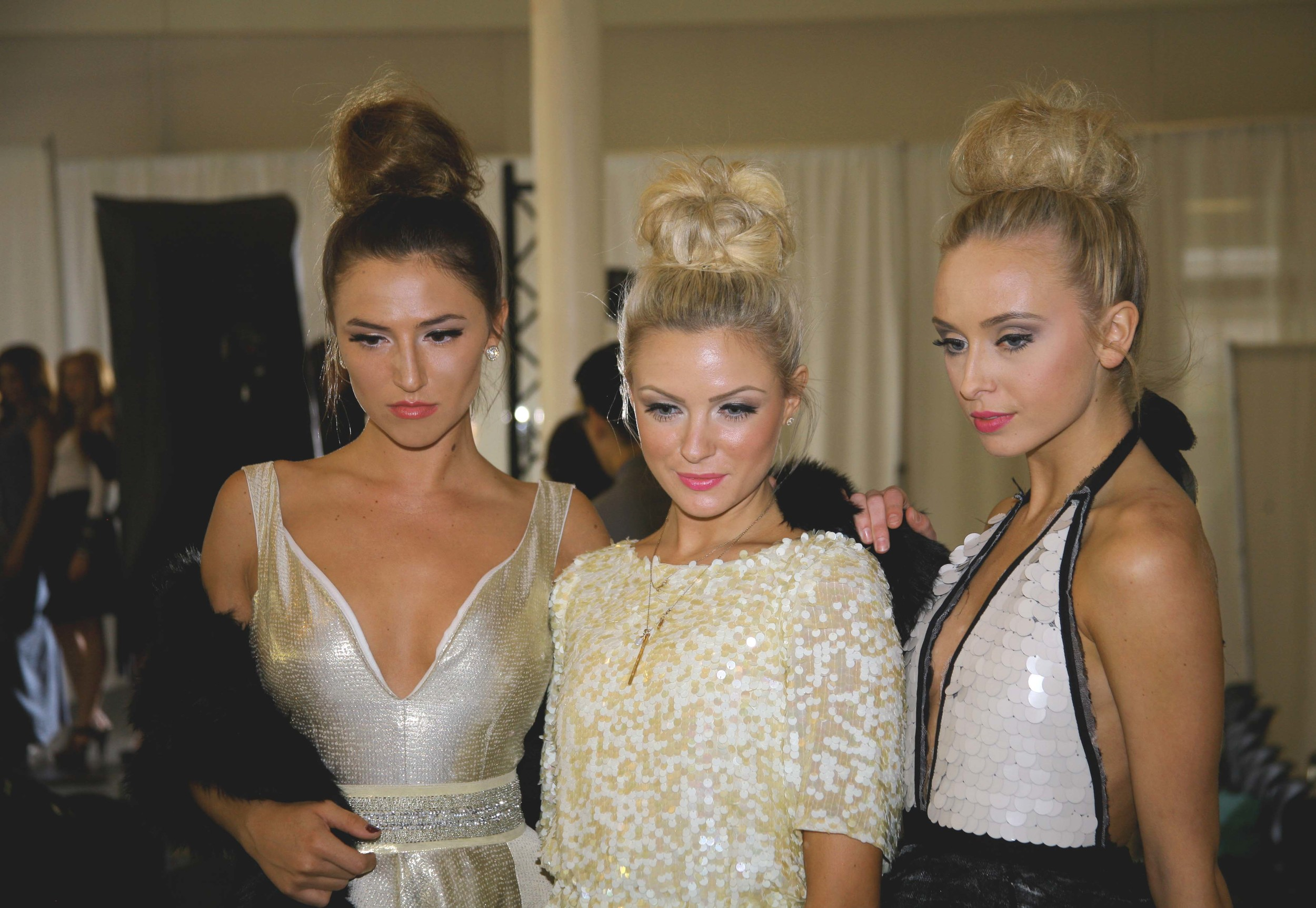Just posing in between shows on the runway, with Brit Andrus & Makenna Boley  Photo by:  Dreamwithmephotography  <<<click to view her page