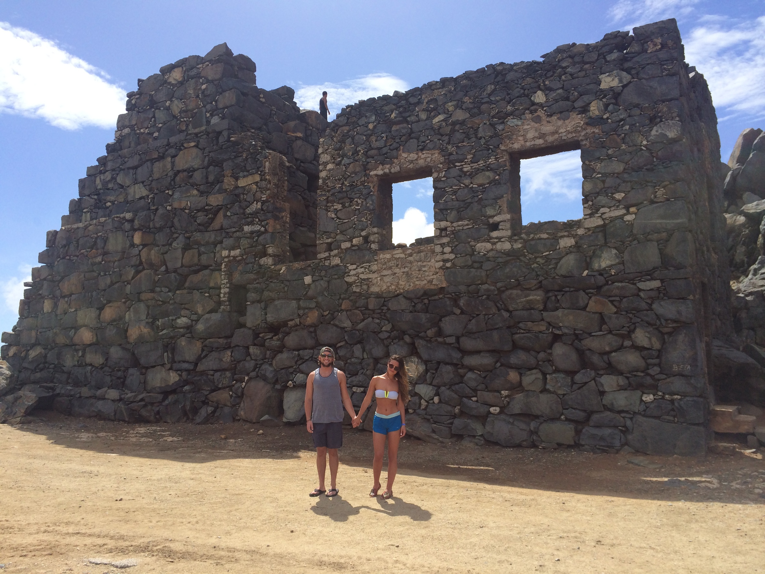 Exploring ruins.