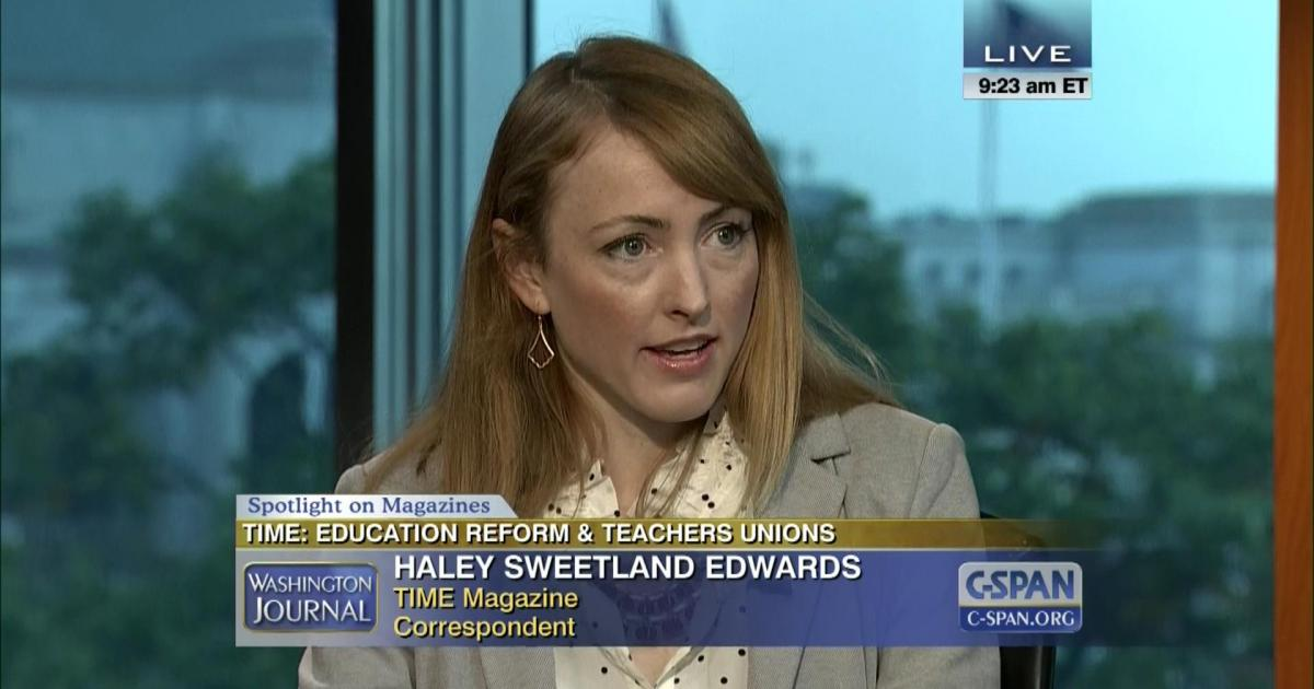 Edwards was recently spotlighted on C-SPAN for her coverage.
