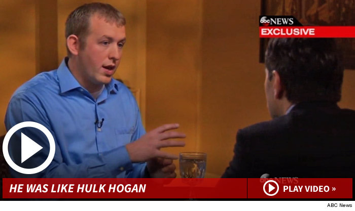 In an exclusive ABC interview, the 6-foot-4, 210-pound police  o  fficer Darren Wilson  compared 18 year-old Michael Brown to Hulk Hogan (Source:  ABC News )