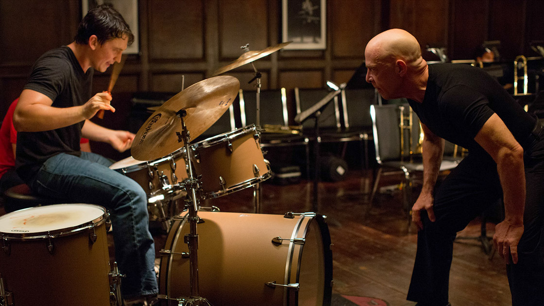 "Scene from Chazelle's upcoming film, ""  Whiplash  "", featuring   Miles Teller   and   J.K. Simmons"