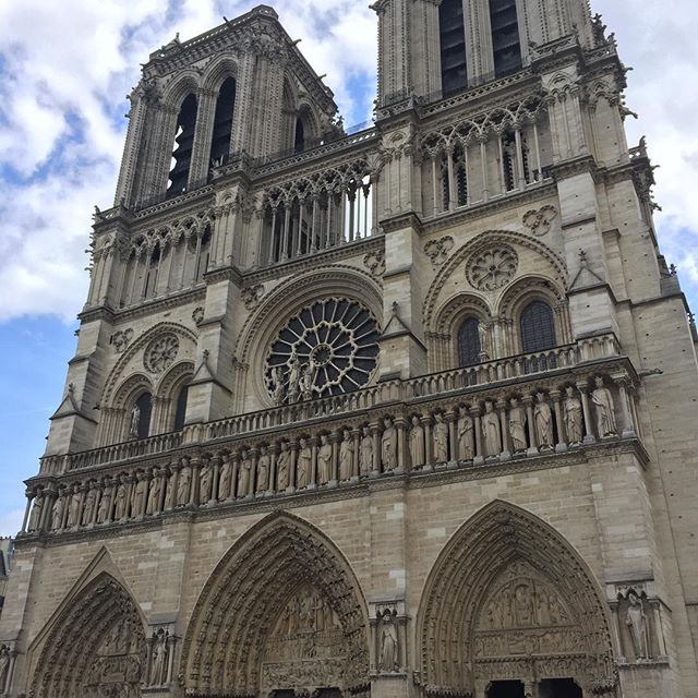 Pictures from May 2017, my last visit outside #notredame . It's time like these you realize how much you take for granted the significance of such monumental sites. Devastating loss of history....it won't be the same. #paris #cathedralenotredame #notredamedeparis