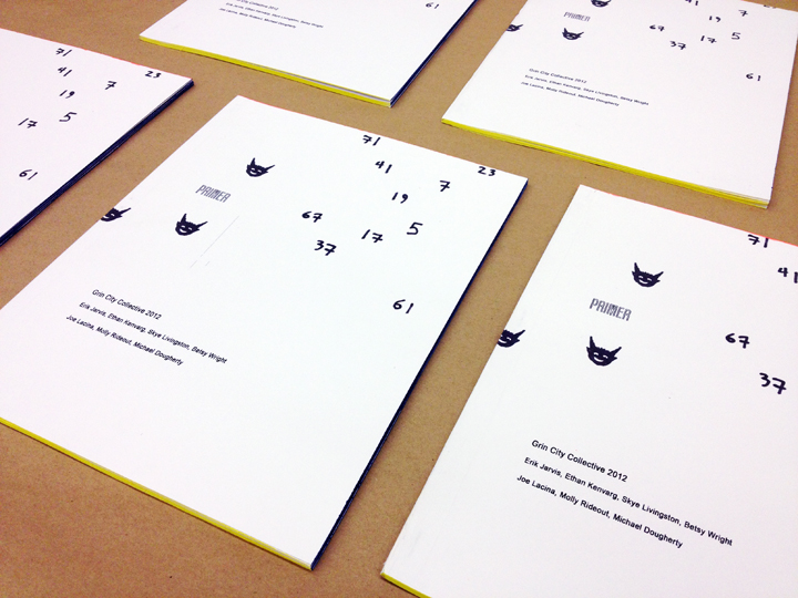Primer Book 2012 - An exquisite corpse book designed by visiting Emerging Artists and staff.