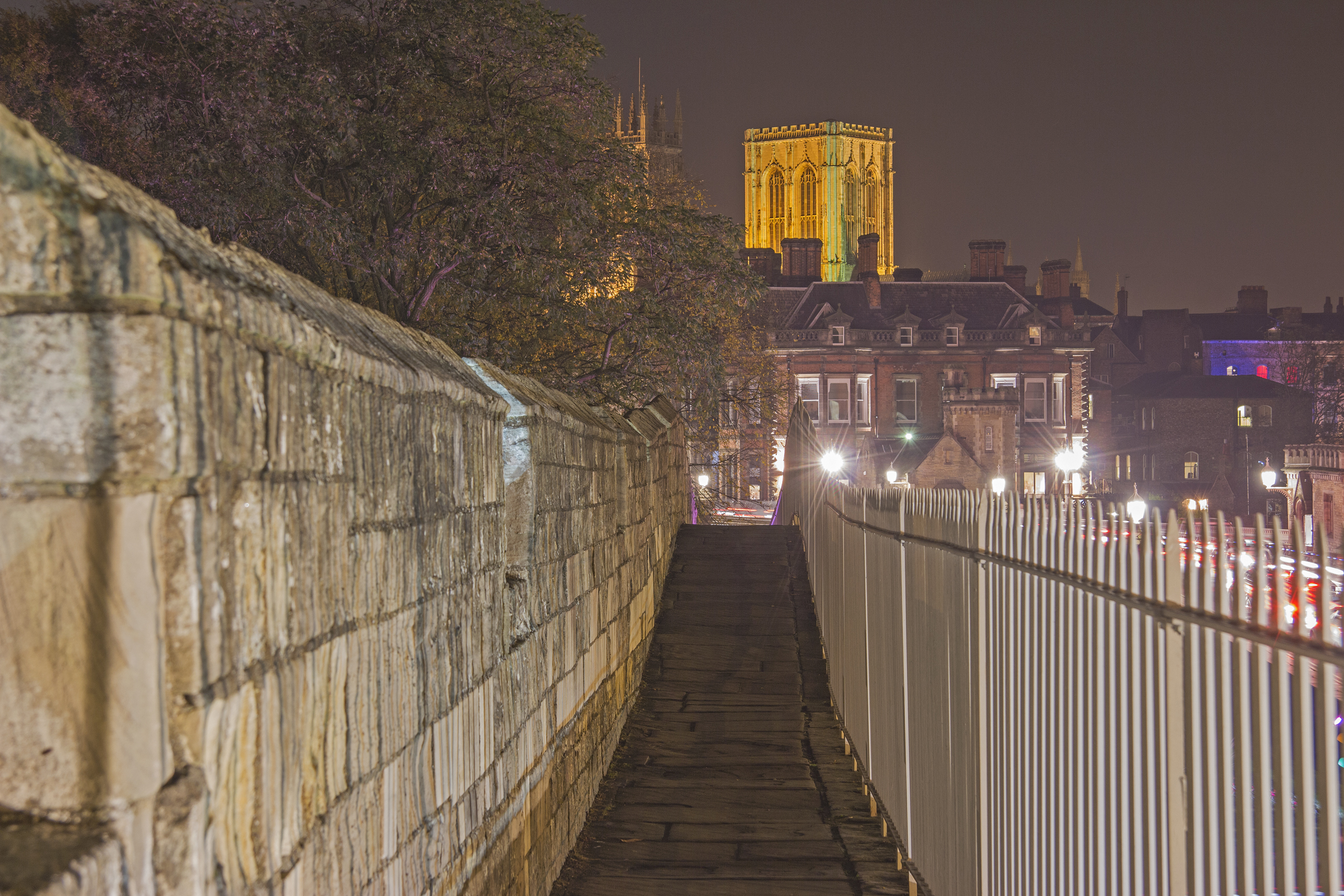 Reverse view towards the Minster