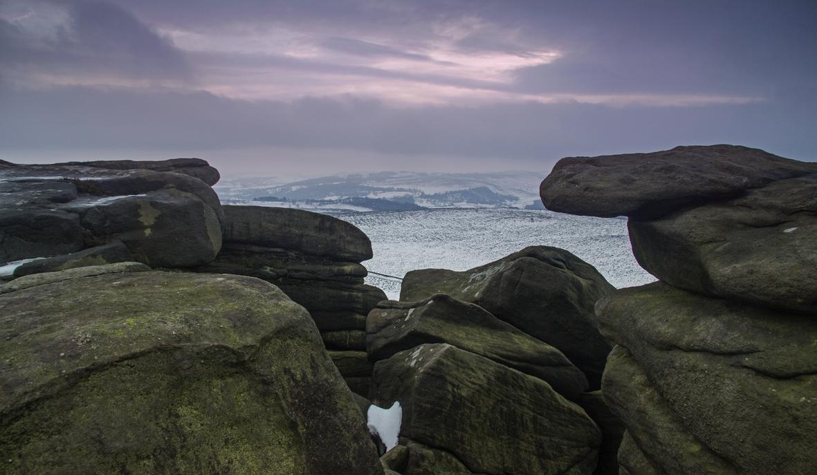 Stanagge Edge - last light of 2014