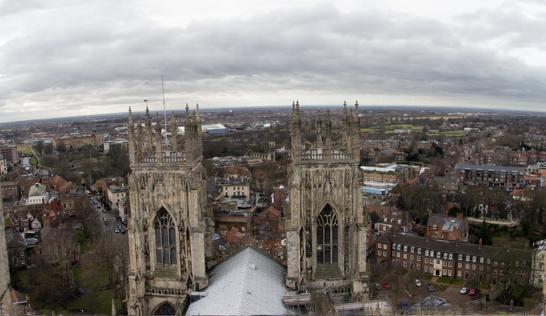 York Minster Tower: looking to my house