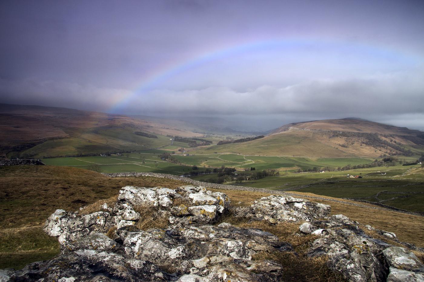 rainbow over Littondale