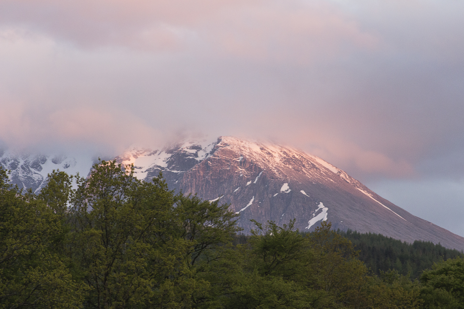 Sunset on Ben Nevis