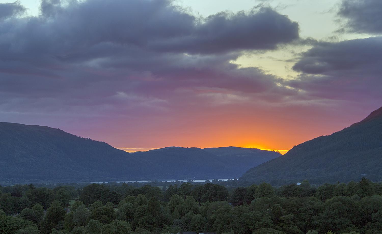 Sunset over Bassenthwaite