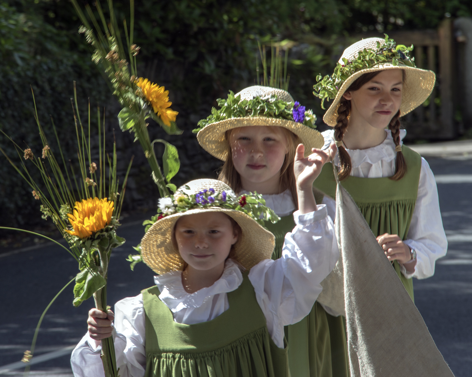 Flower Girls at Grasmere Rushbearing