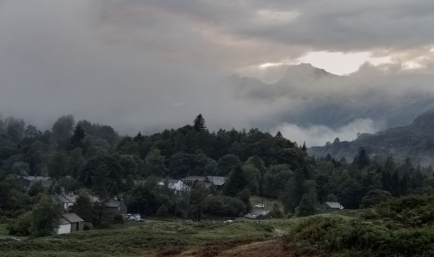 dissipating cloud over Elterwater