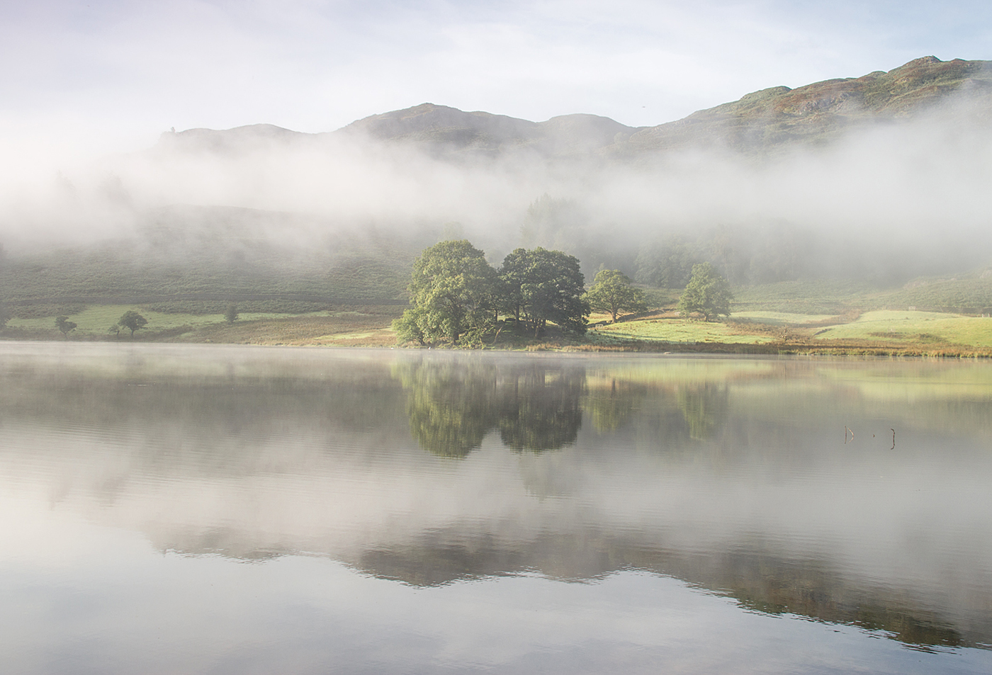 Early morning reflections on Rydal Water