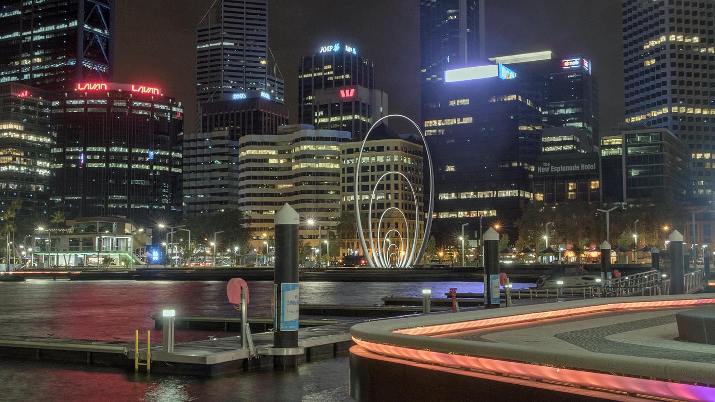 Night time in Perth, WA