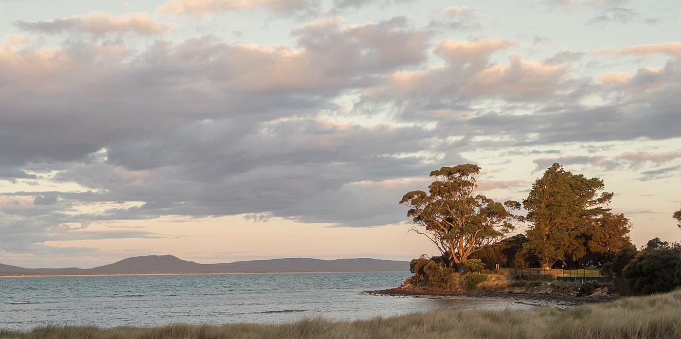 Early evening in Swansea, Tasmania