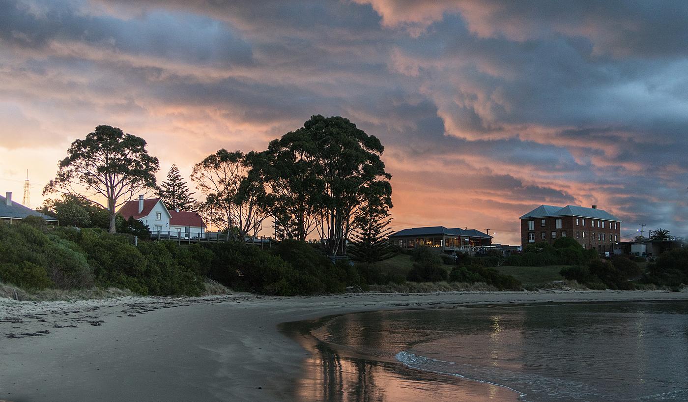 Sunset in Swansea, Tasmania