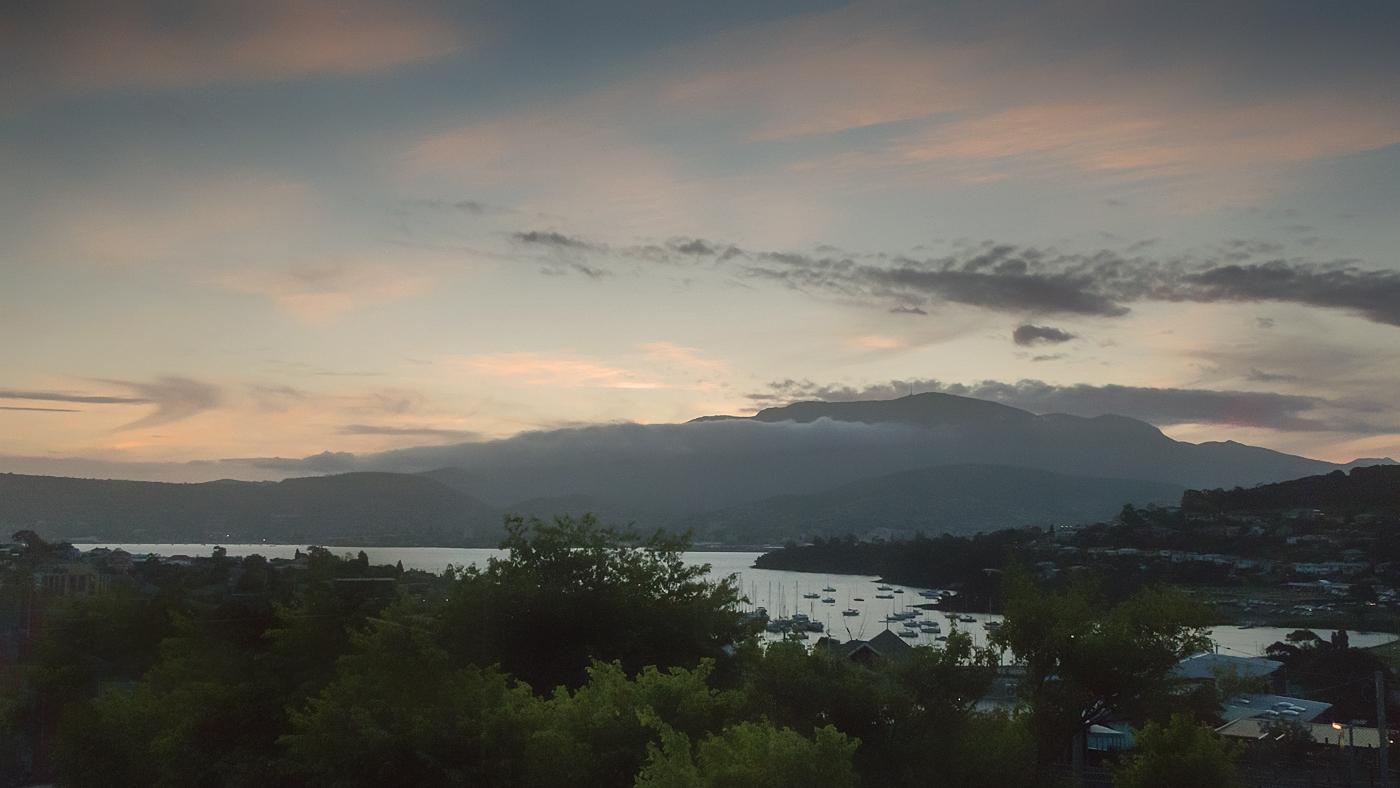 Clouds around Mt Wellington, Hobart