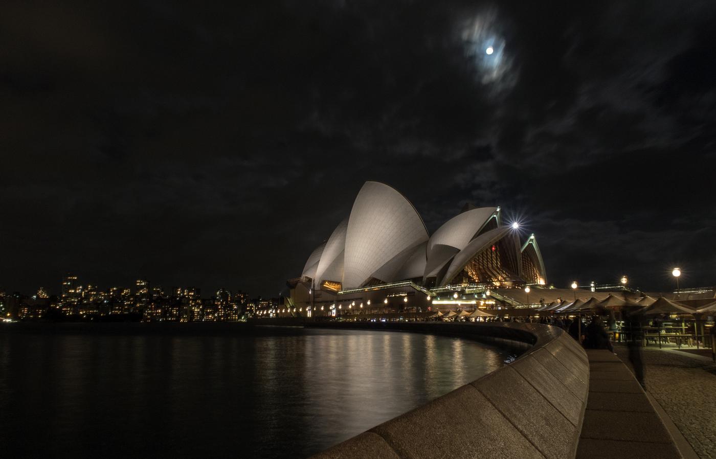 Supermoon over Sydney Opera House