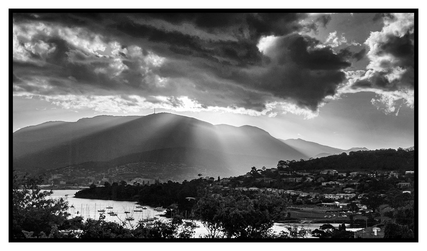 last light over Mount Wellington, Hobart Tasmania