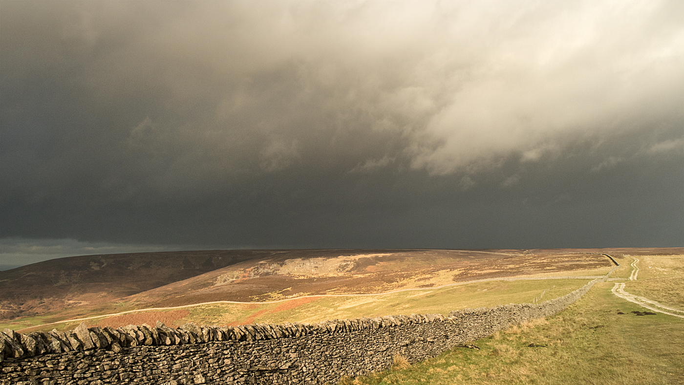 Winter sun and cloud on the Cleveland Way