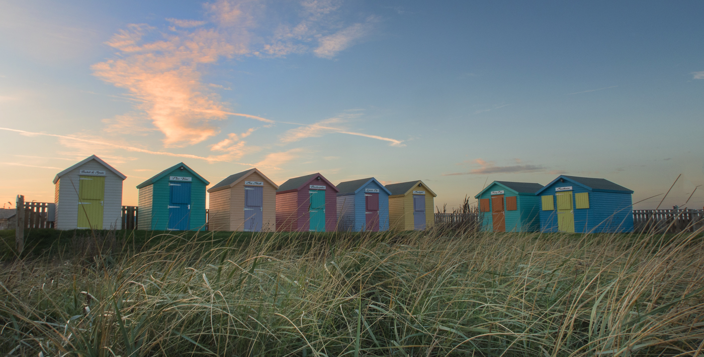 Amble beach huts