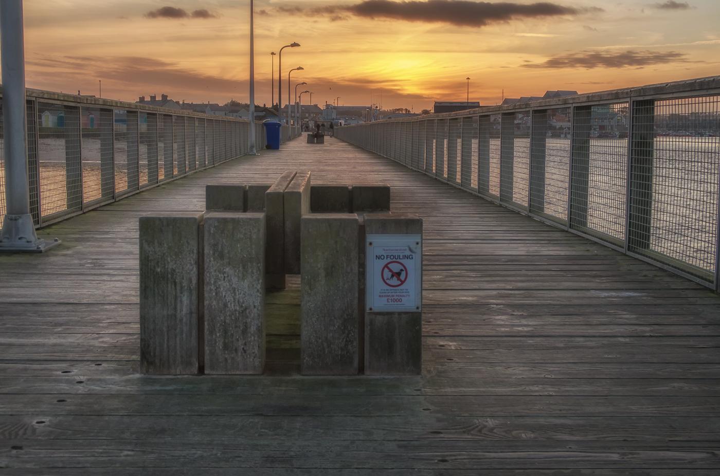 Sunset at Amble Pier
