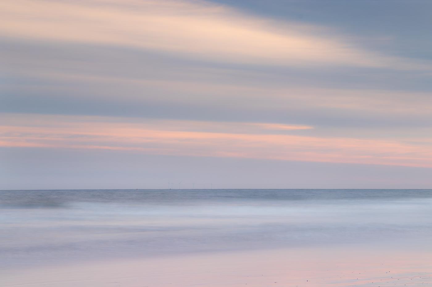 Pastel sunset at Druridge Bay