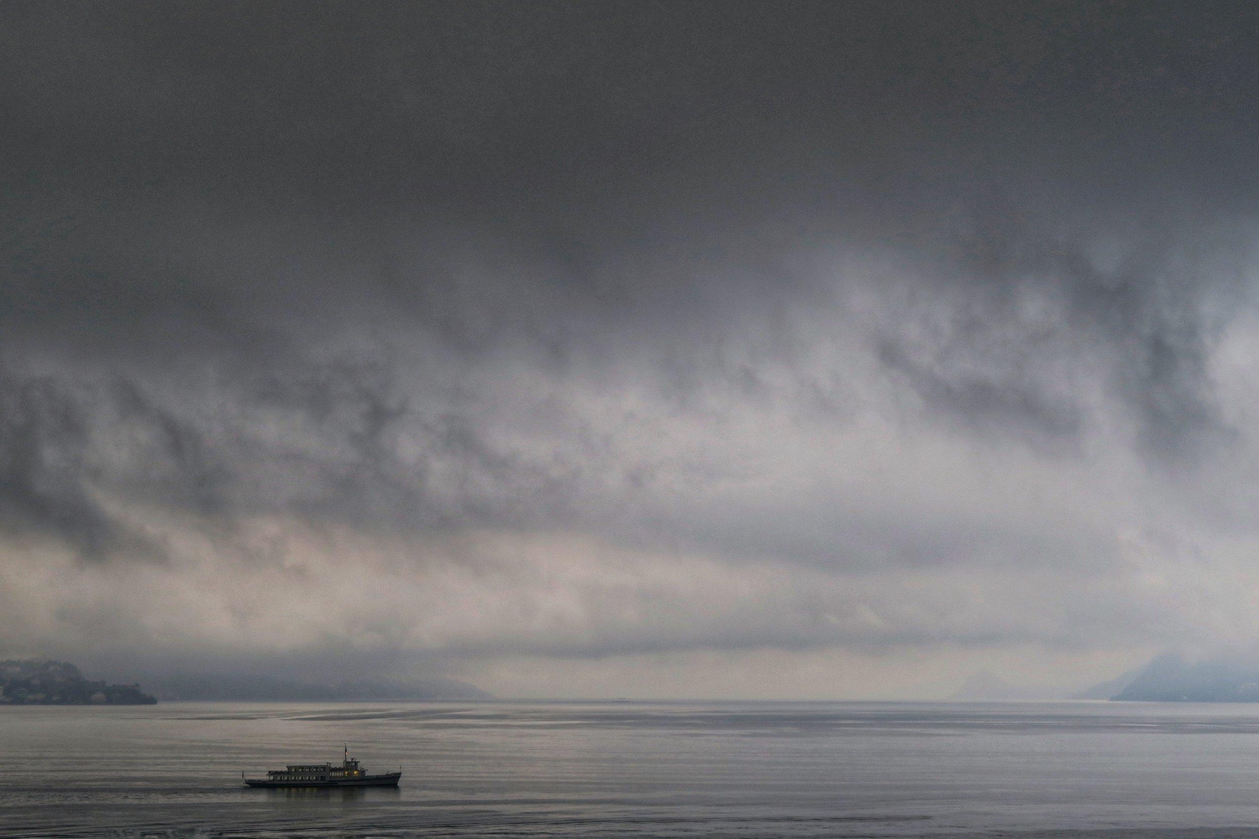 Rain on Lake Maggiore