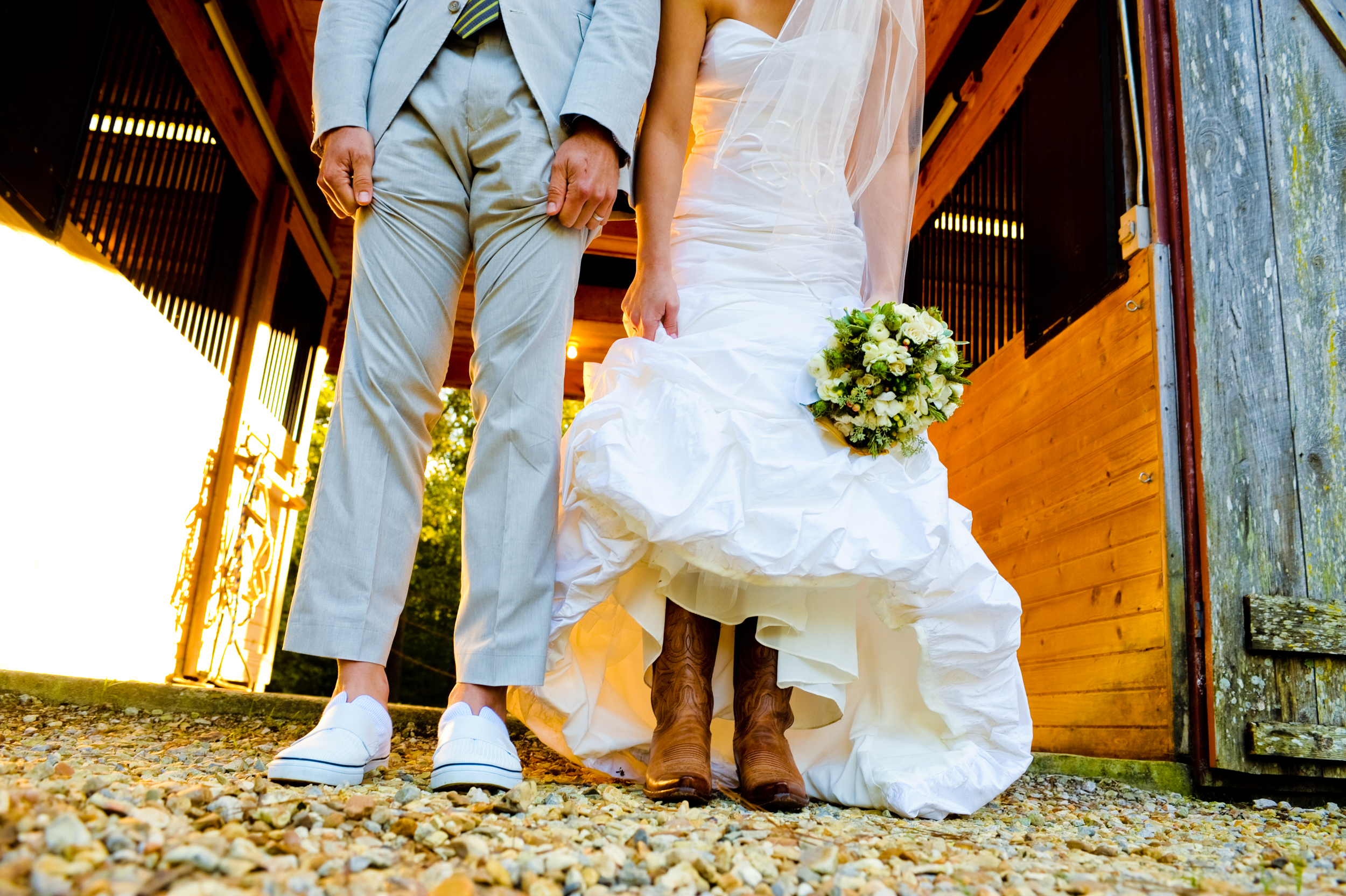 The Bride and Groom's Legs